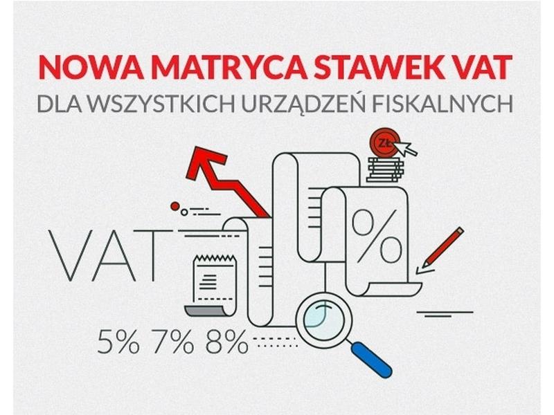 Nowa matryca stawek VAT w 2019